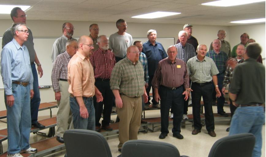 Indianhead Chorus in rehearsal